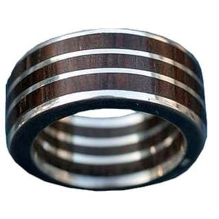 Handmade Sterling Silver and Wood 'The Race' Men's Ring (Brazil)