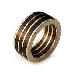 Sterling Silver and Wood 'The Race' Men's Ring (Brazil)