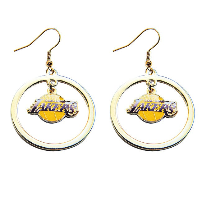 Los Angeles Lakers Hoop Logo Earring Set