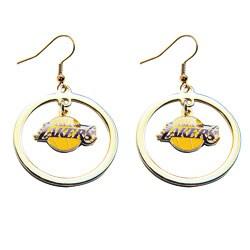 Los Angeles Lakers Hoop Logo Earring Set