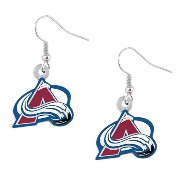 Colorado Avalanche Dangle Logo Earrings