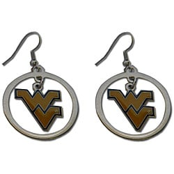 West Virginia Mountaineers Hoop Logo Earring Set