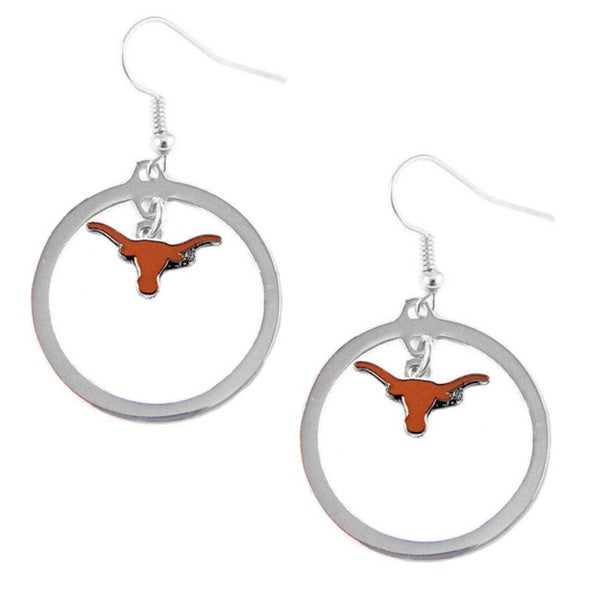 NCAA Texas Longhorns Hoop Logo Earring Set
