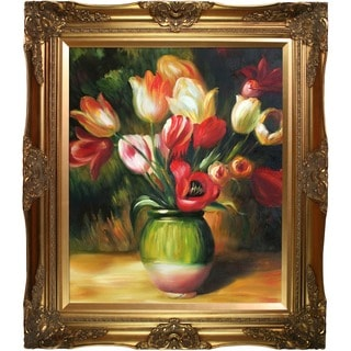 Renoir 'Tulips in a Vase' Canvas Art