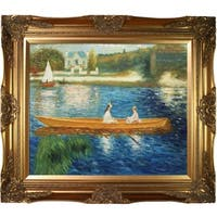 Renoir 'Boating on the Seine' Canvas Art
