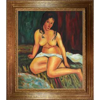 Modigliani 'Seated Nude, 1917' Canvas Art