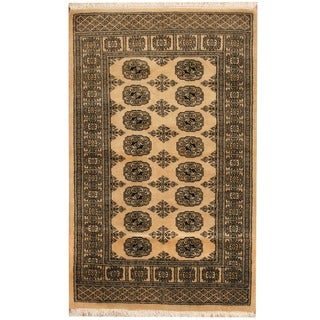 Handmade Herat Oriental Pakistani Bokhara Wool Rug (Pakistan) - 3' x 5'