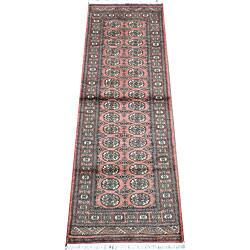 Herat Oriental Pakistani Hand-knotted Bokhara Wool Runner (2'8 x 8')|https://ak1.ostkcdn.com/images/products/4844291/Pakistani-Hand-knotted-Bokhara-Peach-Ivory-Wool-Runner-28-x-8-P12732636a.jpg?impolicy=medium
