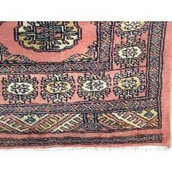 Pakistani Hand-knotted Bokhara Peach/ Ivory Wool Runner (2'8 x 12')