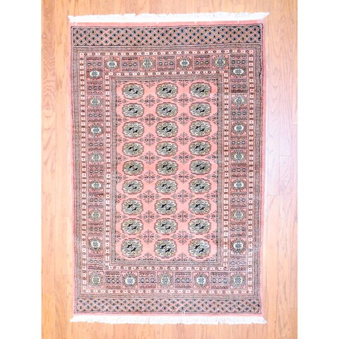 Handmade Herat Oriental Pakistani Bokhara Wool Rug - 4' x 6' (Pakistan)
