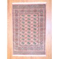 Herat Oriental Pakistani Hand-knotted Bokhara Wool Rug (4' x 6') - 4' x 6'