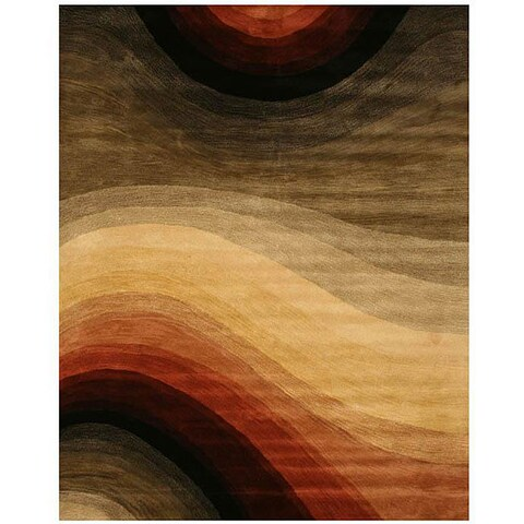 Hand-tufted Wool Contemporary Abstract Desertland Rug (4' x 6') - Multi - 4' x 6'