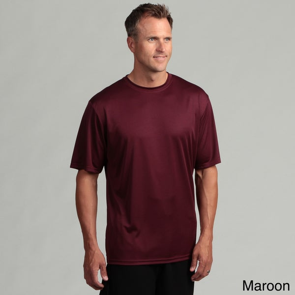 Men 39 S Performance Moisture Wicking Crew Shirt With Hemmed