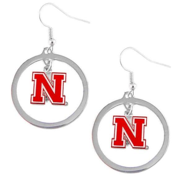 Nebraska Cornhuskers Logo Earrings