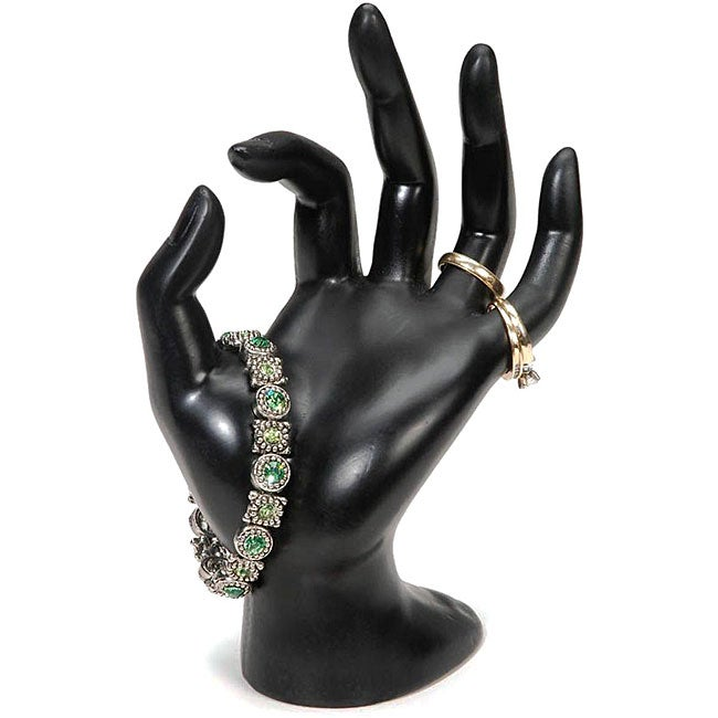 Black Polyresin Hand Form Jewelry Display