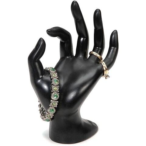 Black Polyresin Hand Form Jewelry Display