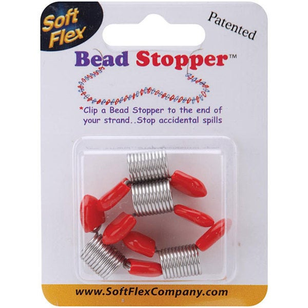 Plastic Topped Large Metal Bead Stoppers (Set of 4)