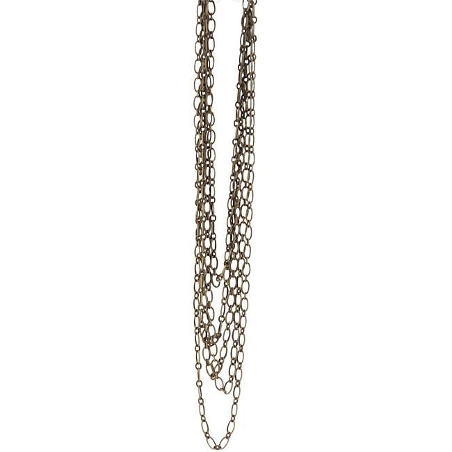 Blue Moon 'Madame Delphine's' Oxidized Brass Metal 63 inch Chain
