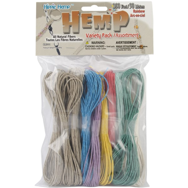 'Rainbow' Hemp String 300-foot Variety Pack
