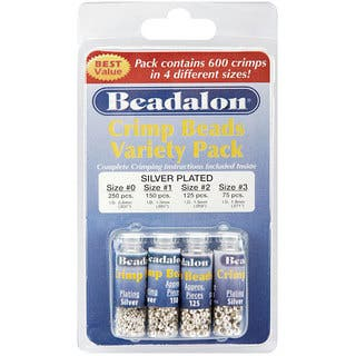 Beadalon Silverplated #0/1/2/3 Crimp Bead 600-piece Variety Pack|https://ak1.ostkcdn.com/images/products/4847339/P12735035.jpg?impolicy=medium