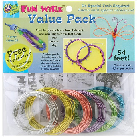 Plastic-coated 24-gauge Translucent Copper Fun Wire 9' Coils (Pack of 6)