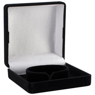 Darice Black Faux Leather Necklace Box