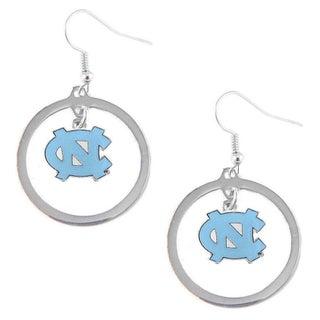 NCAA North Carolina Tarheels Logo Hoop Earrings