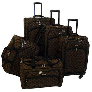 American Flyer 'Madrid' 5-Piece Brown Spinner Luggage Set|https://ak1.ostkcdn.com/images/products/4849984/P12737154.jpg?impolicy=medium