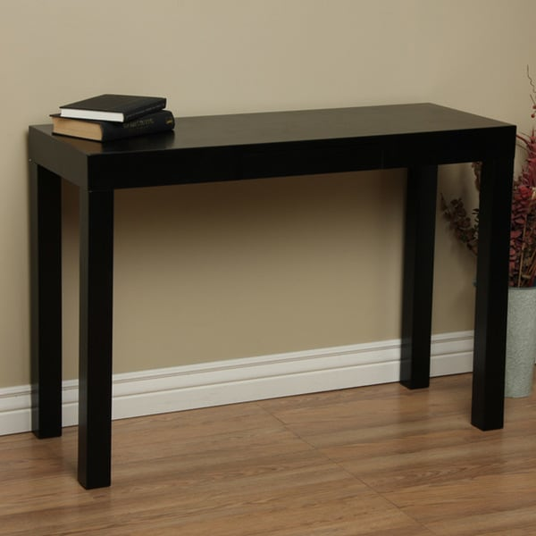 Lachlan Glossy Black Sofa Table Free Shipping Today Overstock