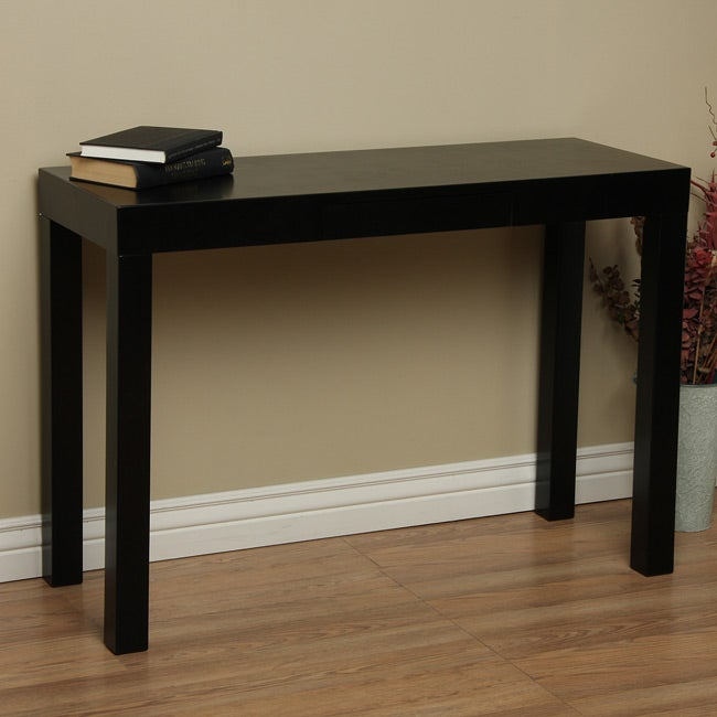 Lachlan Glossy Black Sofa Table Free Shipping Today Overstockcom 12737279