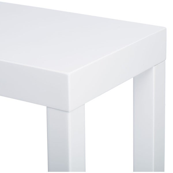 Lachlan Glossy White Sofa Table Free Shipping Today Overstock