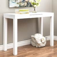 Clay Alder Home Jack's Glossy White Sofa Table