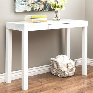 Clay Alder Home Lachlan Glossy White Sofa Table