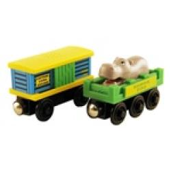 Thomas Wooden Railway 'Zoo Car' Toy Trains (Pack of 2) - Thumbnail 2