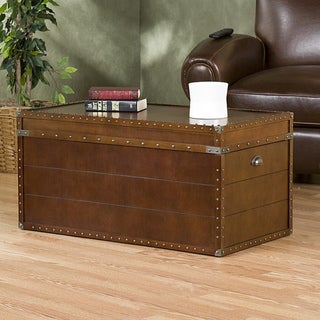Top Vintiquewise Brown Wooden Old Fashioned Treasure Hope Chest - Free  FB65