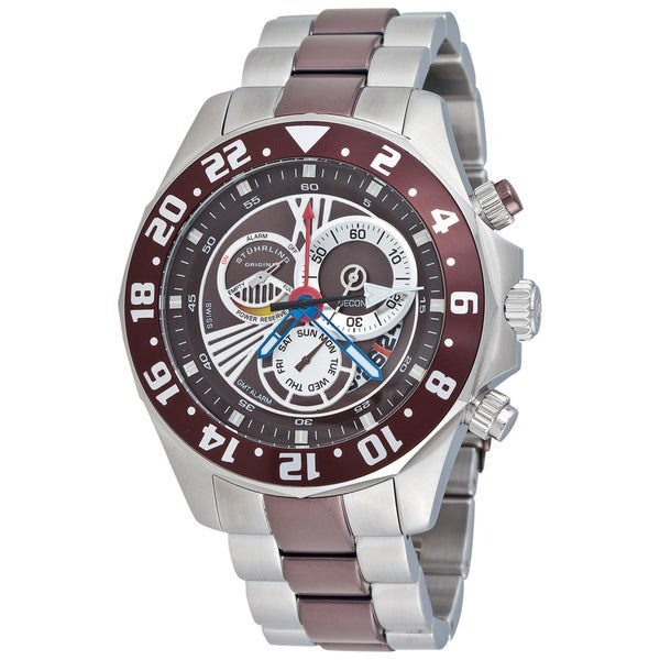 Stuhrling Original Men's Nautico Dual Time Zone Watch