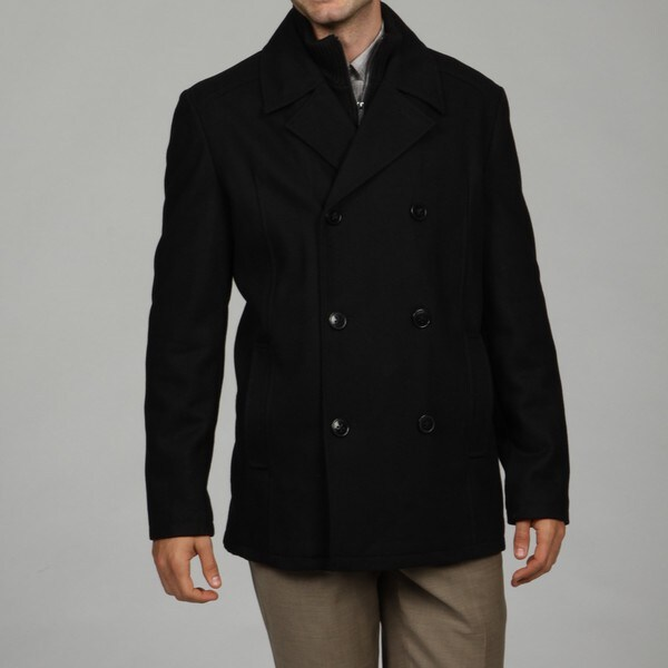 Kenneth Cole Reaction Men's Wool Blend Peacoat FINAL SALE - Free ...