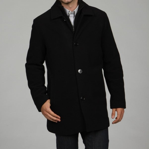 Kenneth Cole Reaction Men's Wool Blend Car Coat FINAL SALE - Free