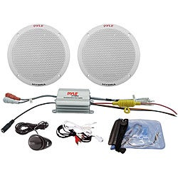 Pyle PLMRKT2A 2-channel Waterproof 6.5-inch Marine Speaker System