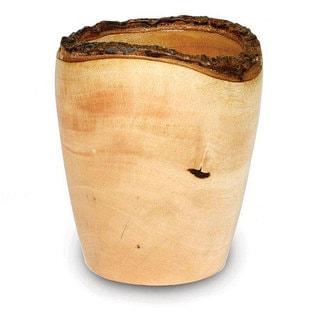 Handmade Mango Wood Utensil Vase (Thailand)