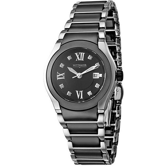 Wittnauer Women's Ceramic Stainless Steel Diamond Watch
