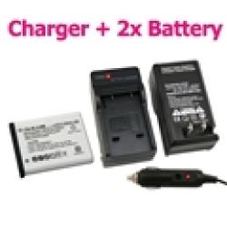 INSTEN Olympus Stylus 1040 Battery Charger/ Battery Set - Thumbnail 1
