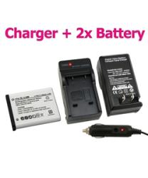 INSTEN Olympus Stylus 1040 Battery Charger/ Battery Set - Thumbnail 2