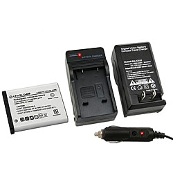 INSTEN Olympus Stylus 1040 Battery Charger/ Battery Set