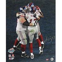 Plaxico Burress Super Bowl XLII TD Endzone Celebration 16x20 Photo