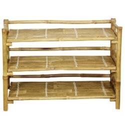 Handmade Bamboo Folding Shoe Rack (Vietnam) - Thumbnail 1