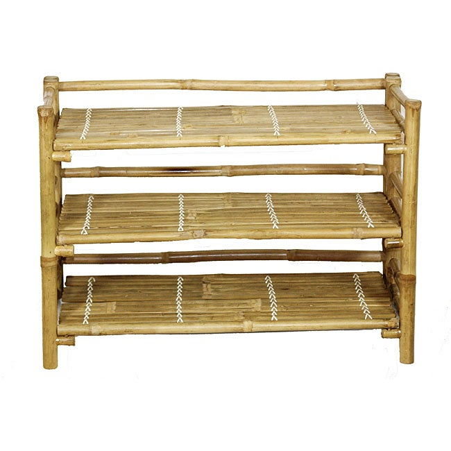 Bamboo Folding Shoe Rack Vietnam Free Shipping Today Overstock
