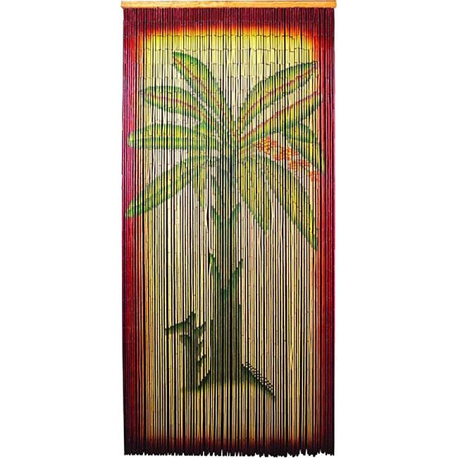 Decorative Multicolor Bamboo-beaded Banana-tree Curtain Screen (China)