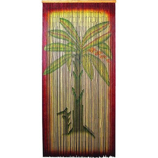 Handmade Decorative Multicolor Bamboo-beaded Banana-tree Curtain Screen (China)