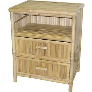 Handmade Bamboo Double-draw End Table (Vietnam)